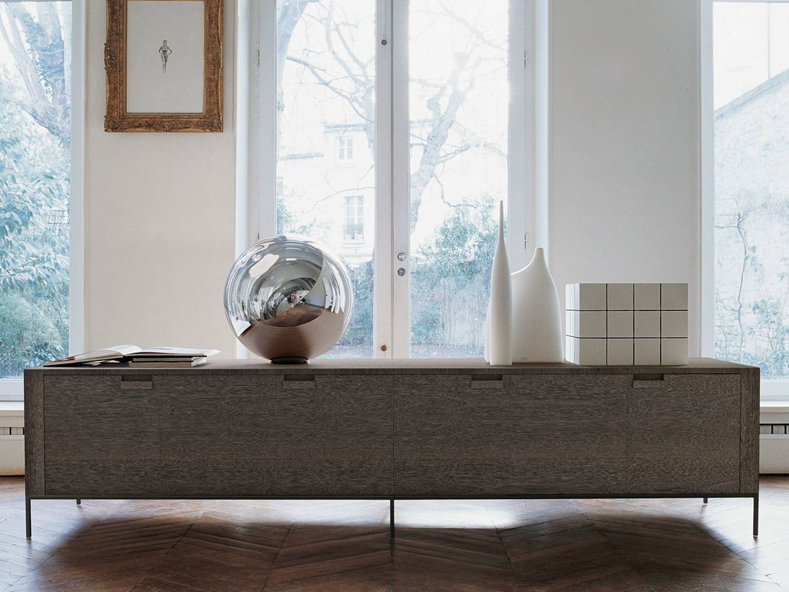 Wooden sideboard with doors titanes sideboard maxalto for B b italia spa