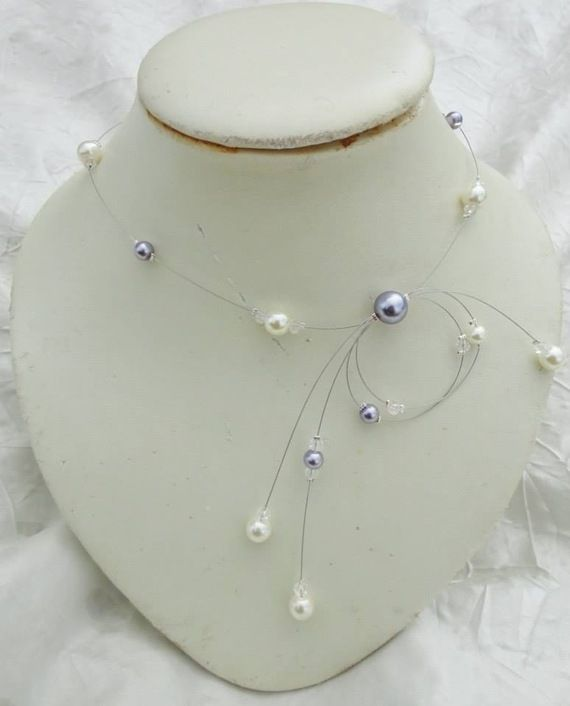 collier perle ivoire mariage