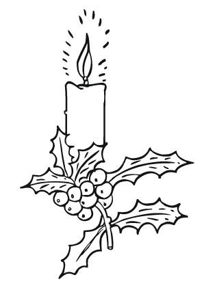 Ausmalbild Adventskerze Mit Stechpalmenzweig Adventskerzen Advent Kerzen Ausmalbilder Weihnachten