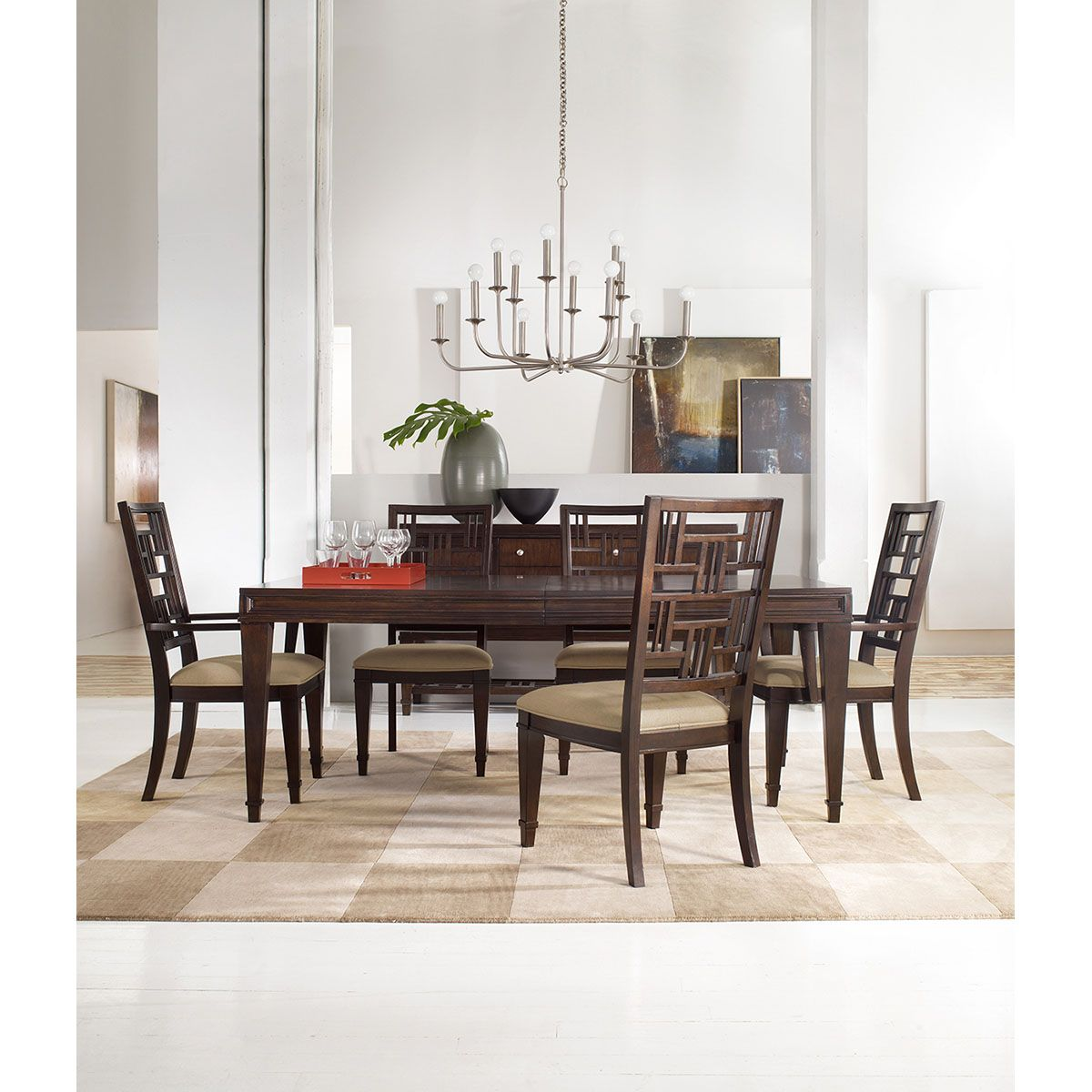 Hooker Furniture Set Of 2 Ludlow Fretback Arm Chair 1030 76400