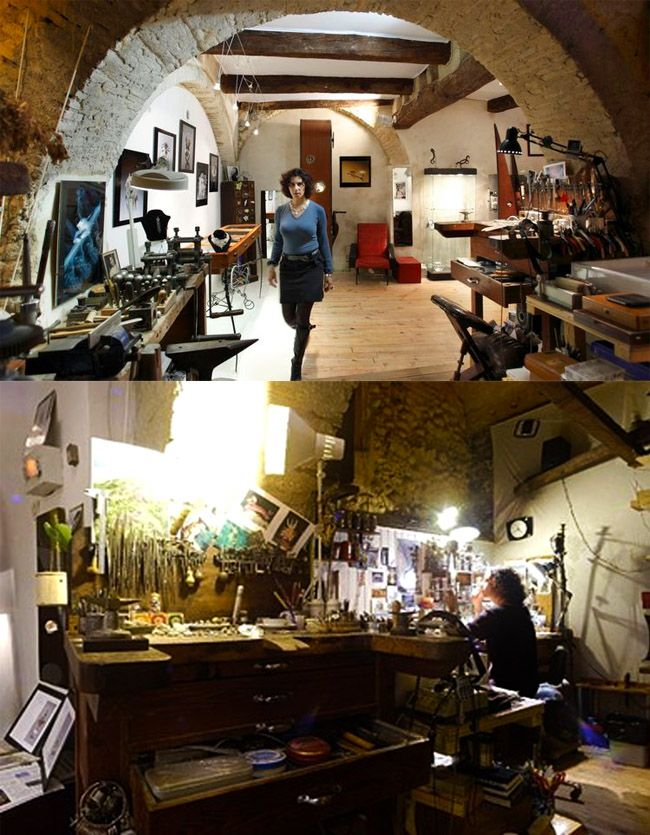 About Esty Artist Made Metalworlks Underwater Inspiration Architecture House Workshop Studio Creative Space