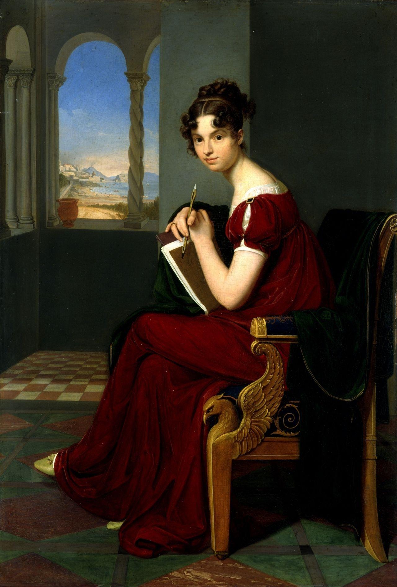 Junge Dame mit Zeichengerät by Carl Christian Vogel von Vogelstein, Germany 1816 (Galerie Neue Meister)