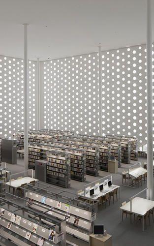 Gasp Design a minimal futuristic library and gasp it s got books