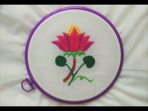 Hand Embroidery Wool Kashmiri And French Knot Stitch Youtube