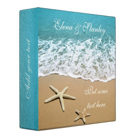 Pair Of Starfish Beach Wedding Planner Binder