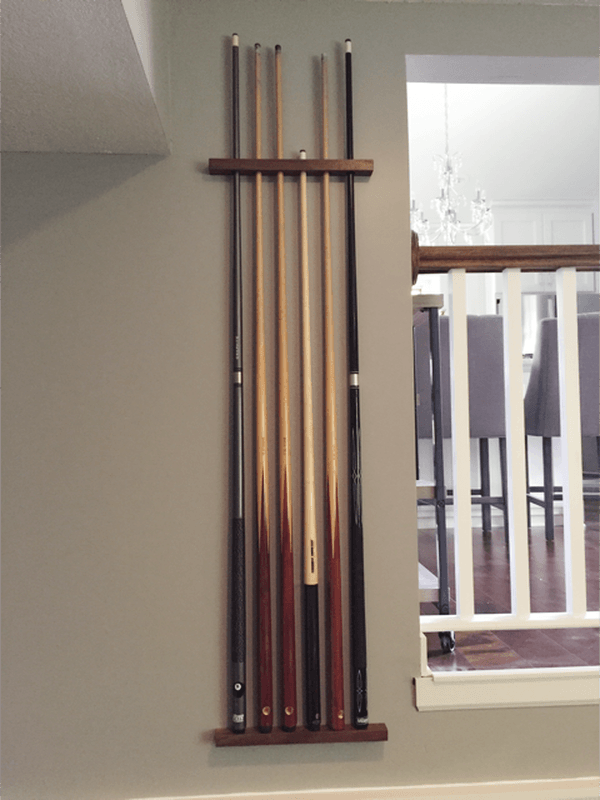 Diy Pool Cue Rack My Blog Pinterest Diy Pool And