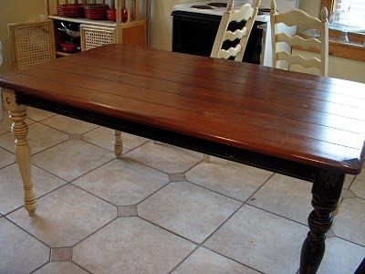 Give You Kitchen Table A Makeover Just Did This On My Coffee Top Only Three Coats Of Satin Polyurethane After The Staining And It Looks