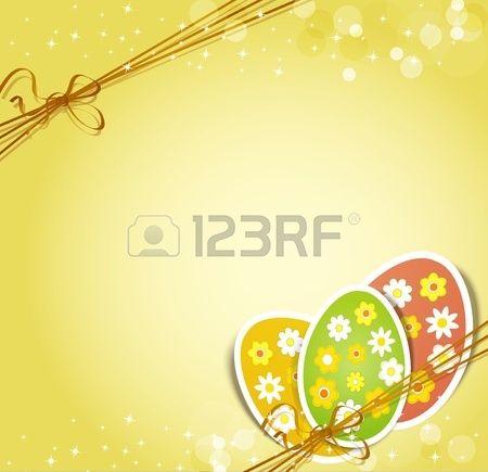 arrière-plan avec la fête de Pâques des oeufs