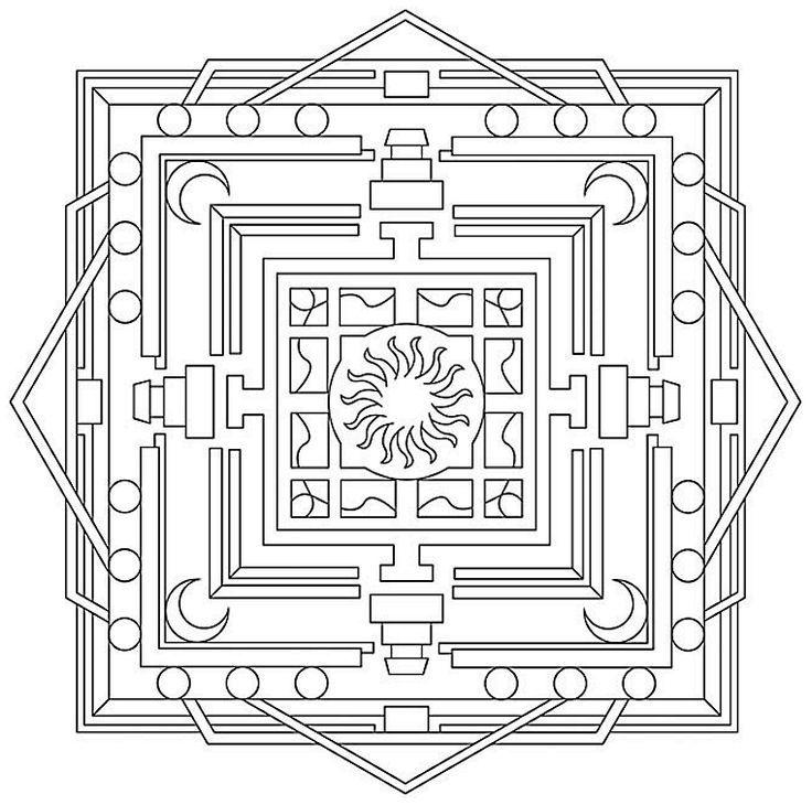 Kare Kare Mandala Coloring Pages Geometric Coloring Pages Celtic Coloring