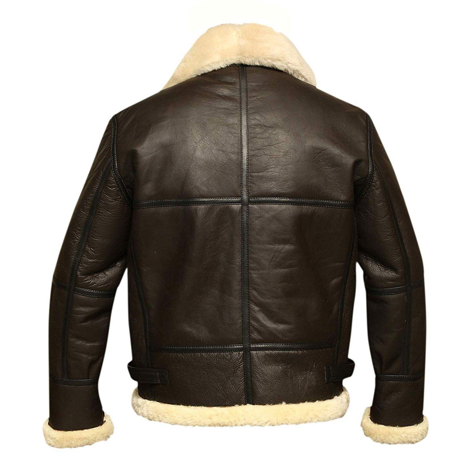 Men B3 Bomber Aviator Shearling Sheepskin Leather Winter Jacket In 2021 Leather Bomber Jacket Sheepskin Jacket Mens Sheepskin Jacket [ 1600 x 1600 Pixel ]