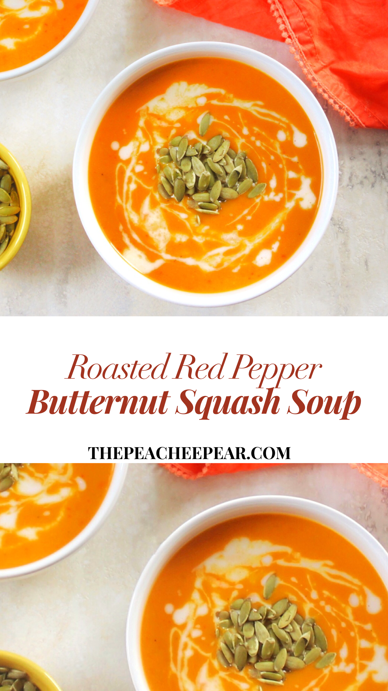 Roasted Red Pepper Butternut Squash Soup