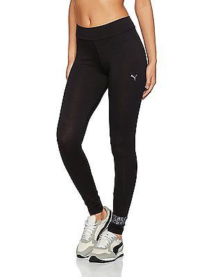 Large, Cotton BlackSwan, Puma Women's Ess No 1 Legging