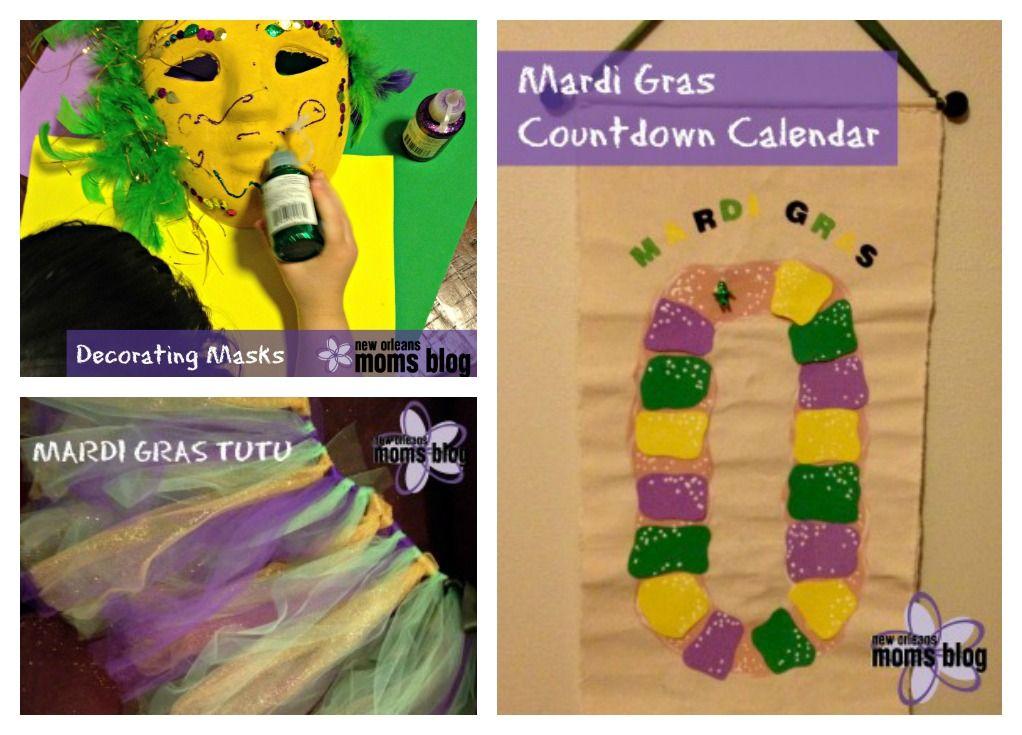 Mardi Gras Crafts No Sew Tutu Countdown Calendar And Mask