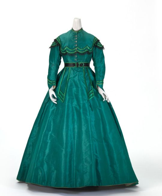 Day dress ca. 1865  From the National Gallery of Victoria via Culture Victoria
