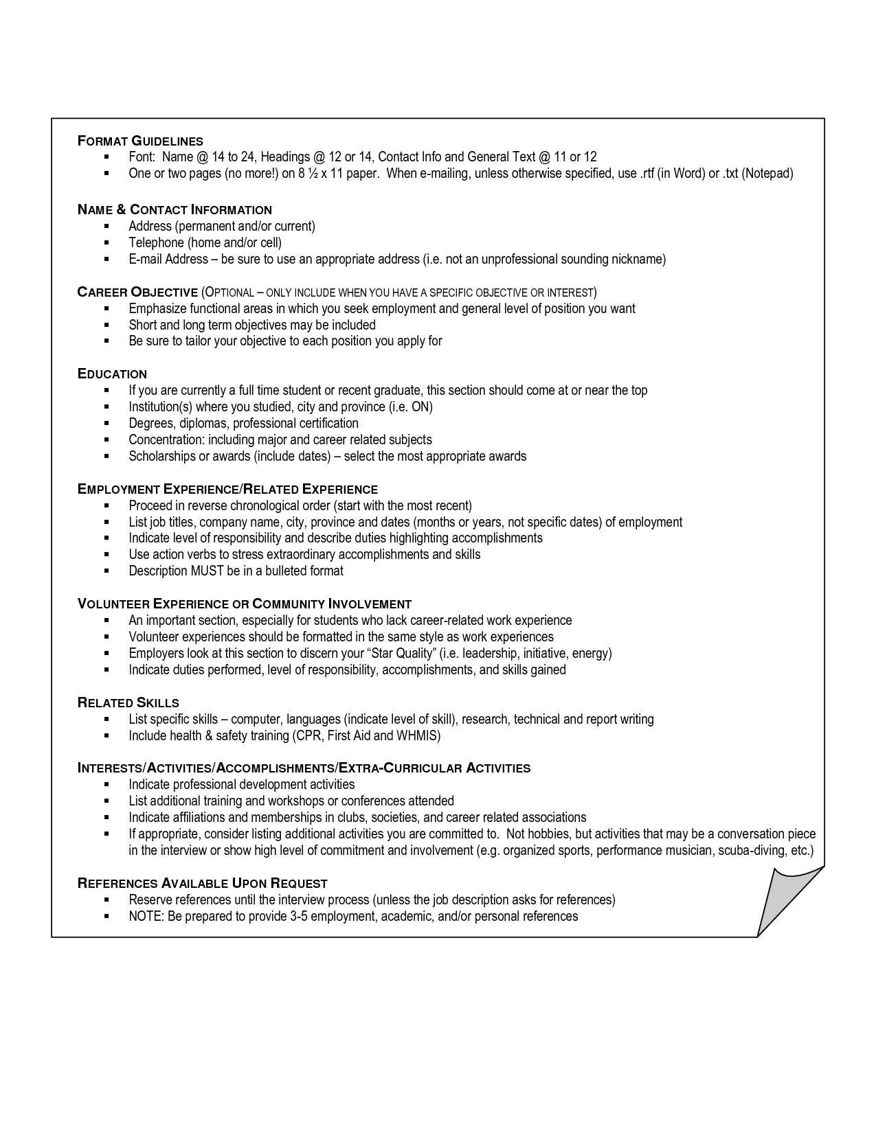 Interests On Resume Examples Examples Interests Resume