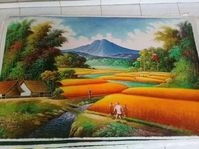 Paling Populer 30 Gambar Lukisan Pemandangan Pakai Pensil Jual Lukisan Pemandangan Alam Bebas Kab Bogor Amazing Shopee Tokopedia Di 2020 Pemandangan Lukisan Gambar