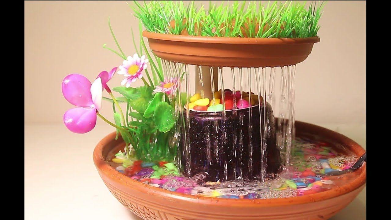 How to make tabletop rain Waterfall fountain Diy bird