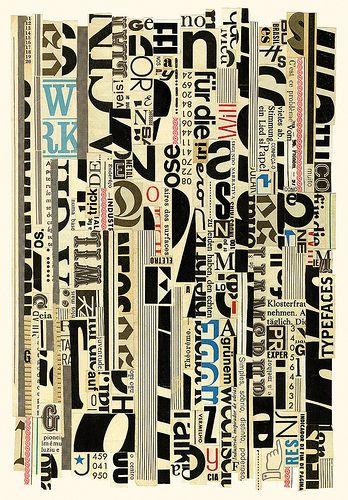 Typographic Stripes by Hugo Werner