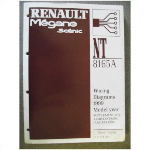 Renault Megane Scenic Wiring Diagrams Manual Supplement