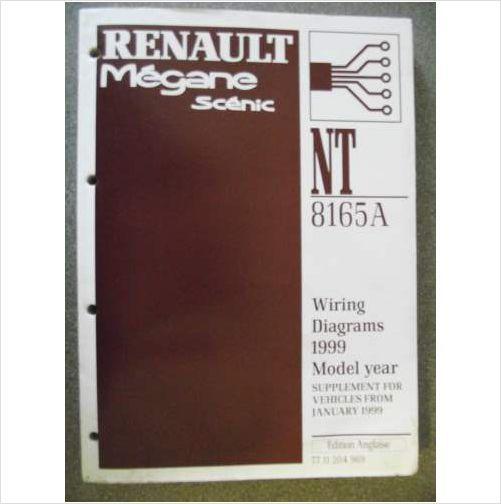 Renault Megane Scenic Wiring Diagrams Manual Supplement