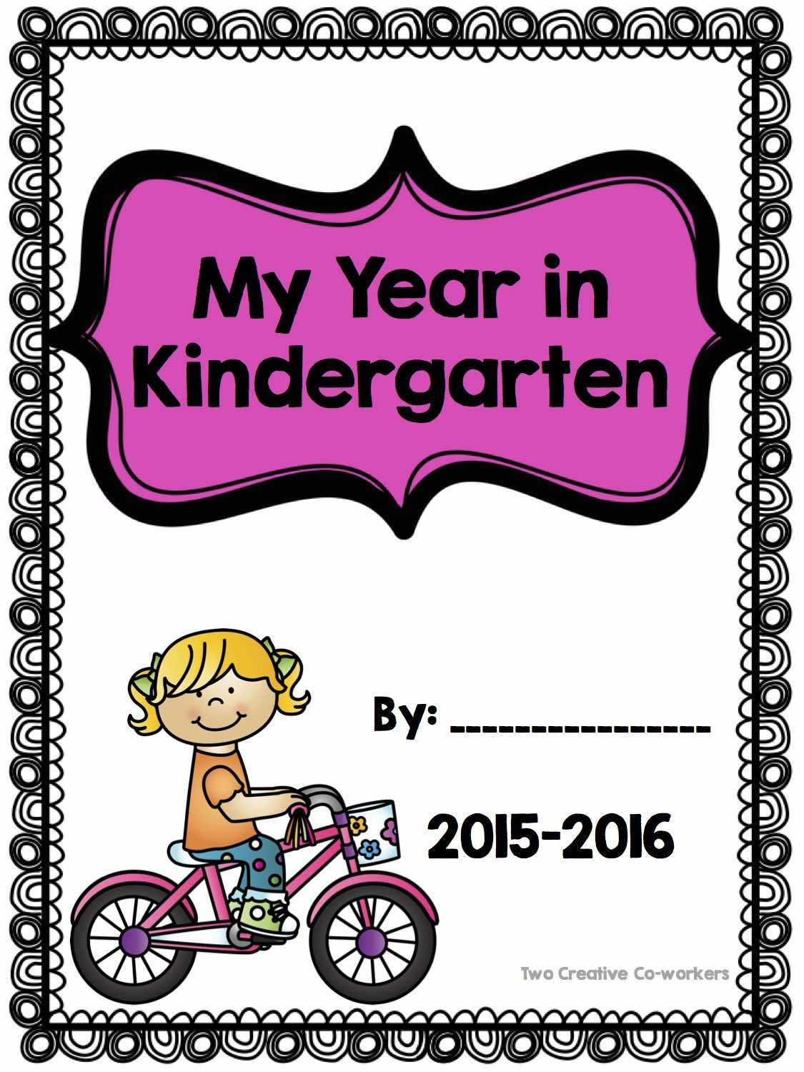 Scrapbook ideas kindergarten - This Cover Page Is Included In Our Kindergarten Memory Scrapbook Your Students Will Enjoy