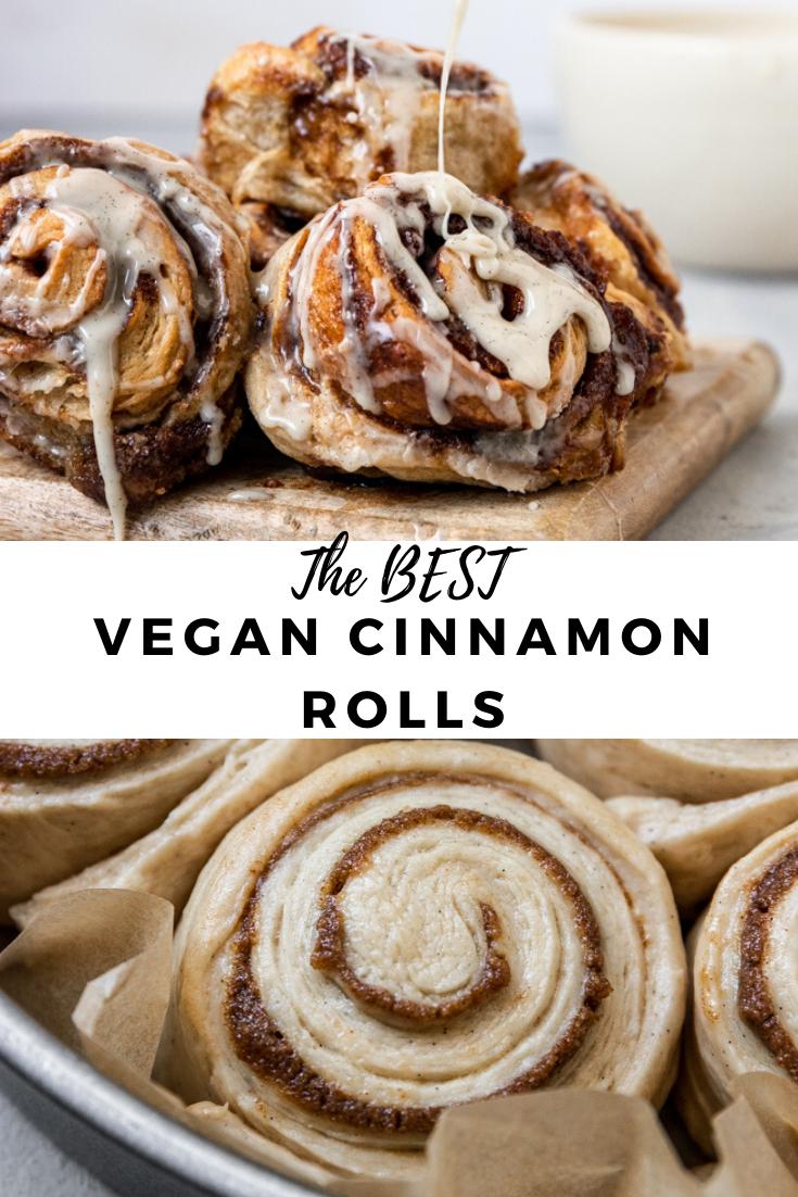 Photo of The Best Vegan Cinnamon Rolls (sourdough option)