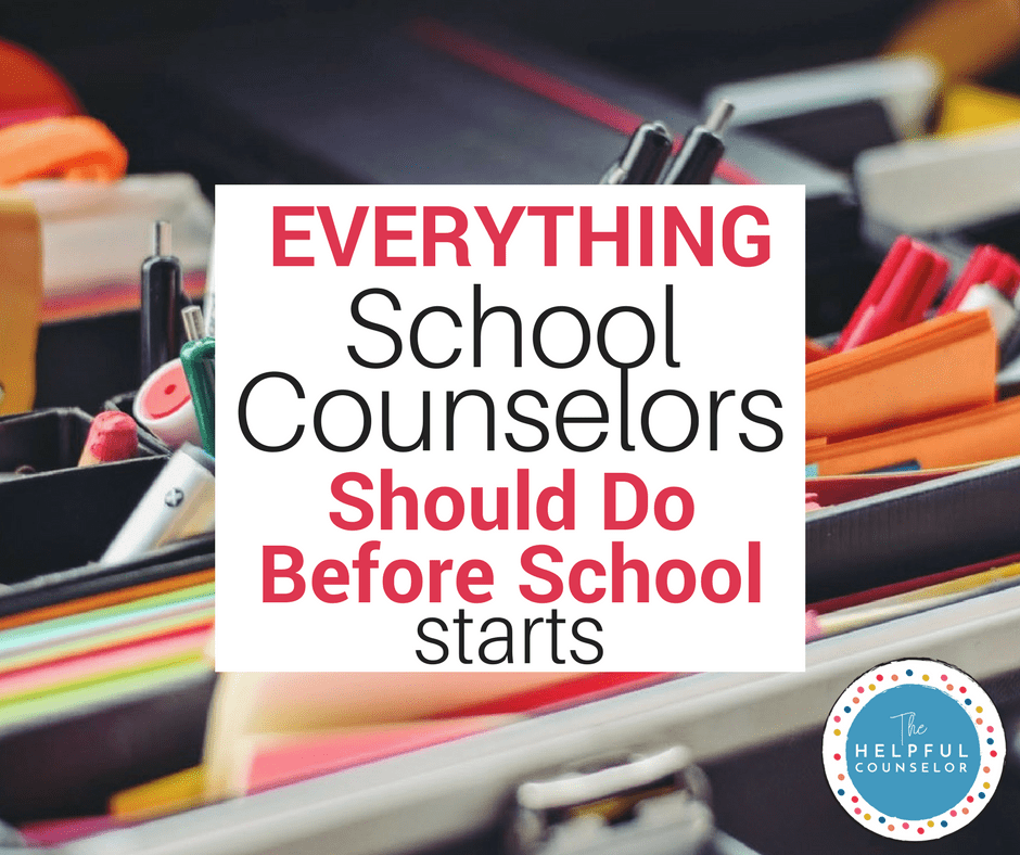 Getting Ready For School School Counsellor Programming And School