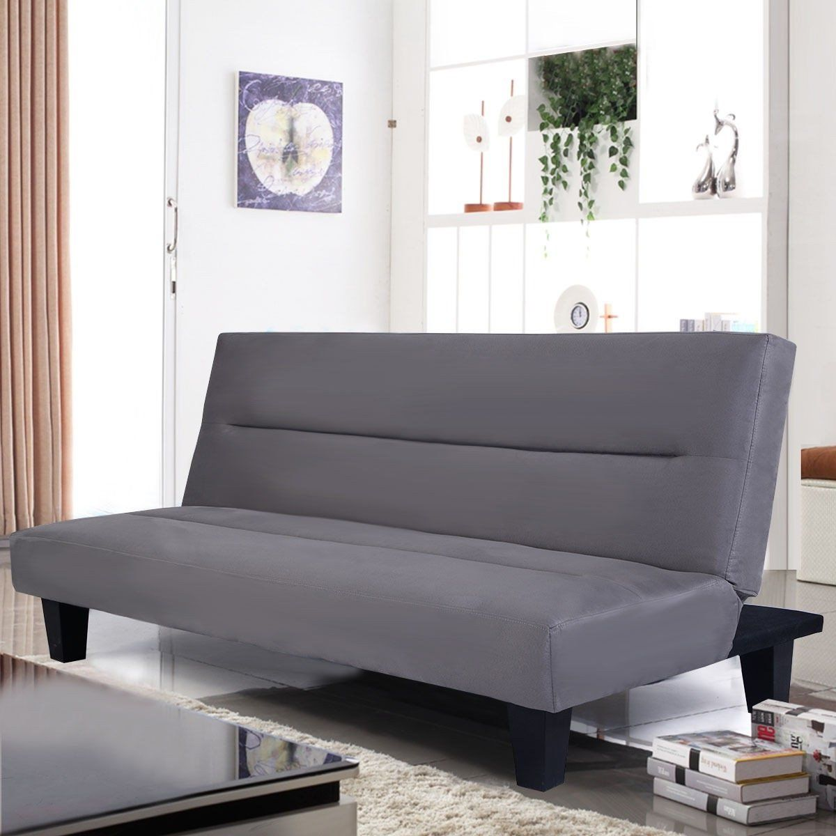 Premium Futon Sofa Convertable To Reclining Sleeper Bed For Modern Contemporary Living Room Apartment Modern Contemporary Living Room Contemporary Living Room