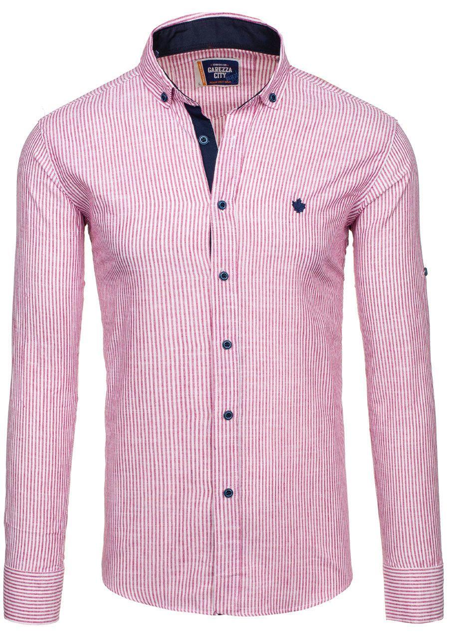 Pánská košile GAREZZA CITY 02 červená ČERVENÁ  6c9636d123