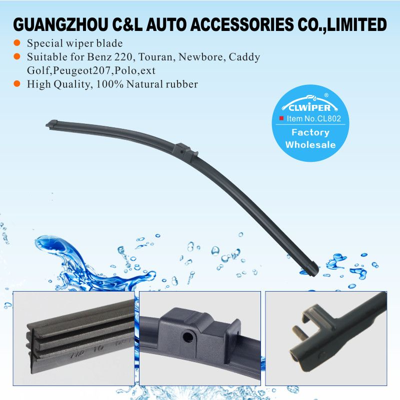 Cl802 Automobile Wiper Blade Manufacturer For Benz 220 Touran Newbore Caddy Golf Peugeot 207 Polo Windscreen Wipers Wiper Blades Windshield Wipers