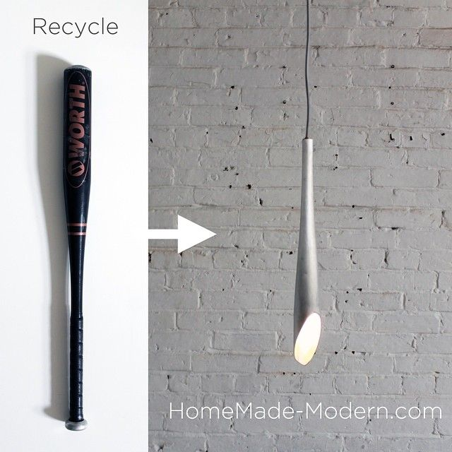 Finished My Weekend Recycling Homemademodern Design Make Baseball Bat Recycle Upcycle Architecture