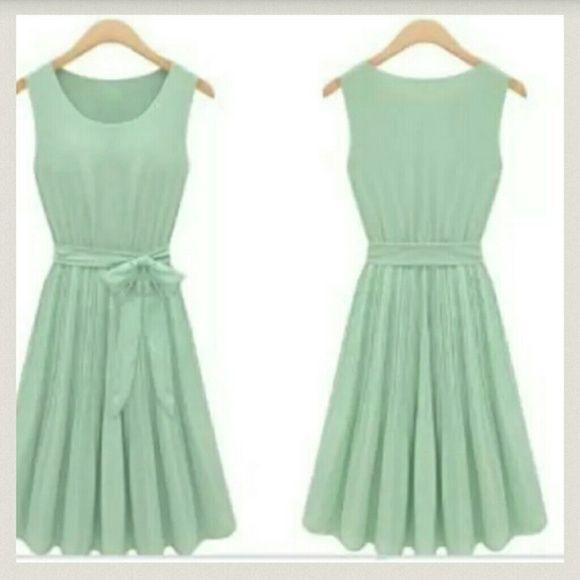Classy dress Mint green chiffon. Classy fit Dresses