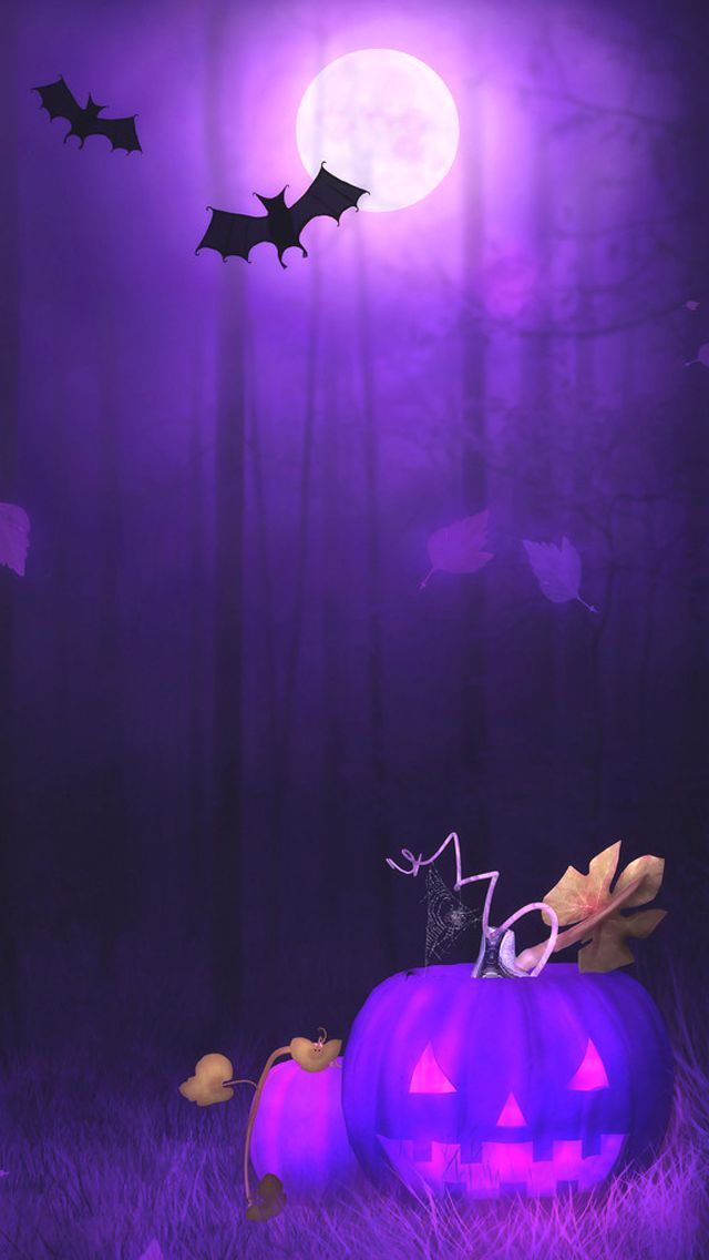 Purple Pumpkin | Halloween wallpaper iphone, Halloween ...