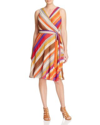 Lauren Ralph Lauren Plus Striped Wrap Dress | Bloomingdale's