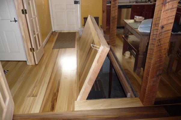 Trapdoor To Basement Under The Attic Stairs?