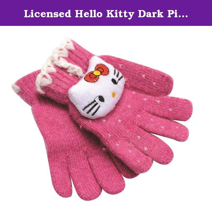 222587edf Hello Kitty Mittens Gloves - Licensed Hello Kitty Merchandise. Suitable for  approximately until age 5/6. Made of Acrylic.