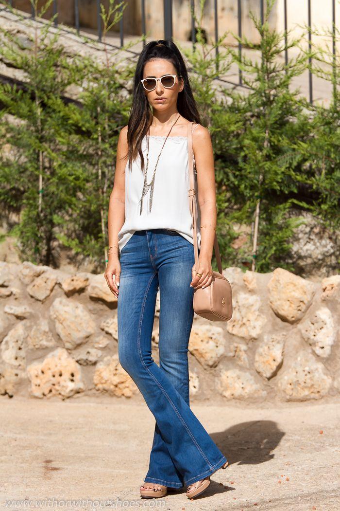 Outfit Con Pantalones Acampanados De Zara Y Top Lencero De Seda De Selected Blog Moda Mujer Moda Para Mujer Pantalones