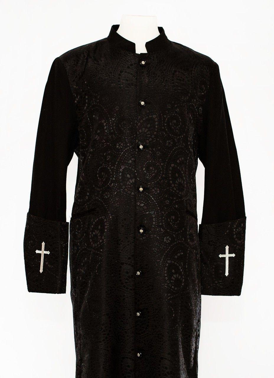 001. Gershon Clergy Robe For Men In Black | Pinterest | Dressing ...