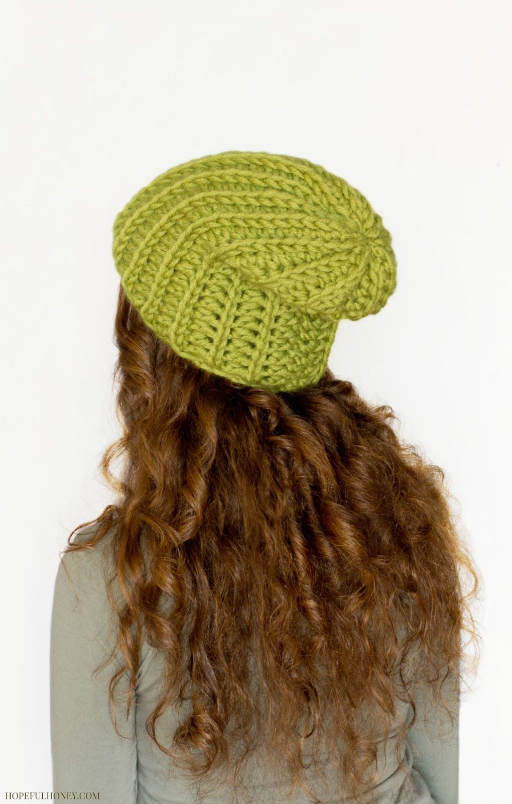 Chunky Willow Tree Slouchy Beanie Crochet Pattern | Ganchillo ...