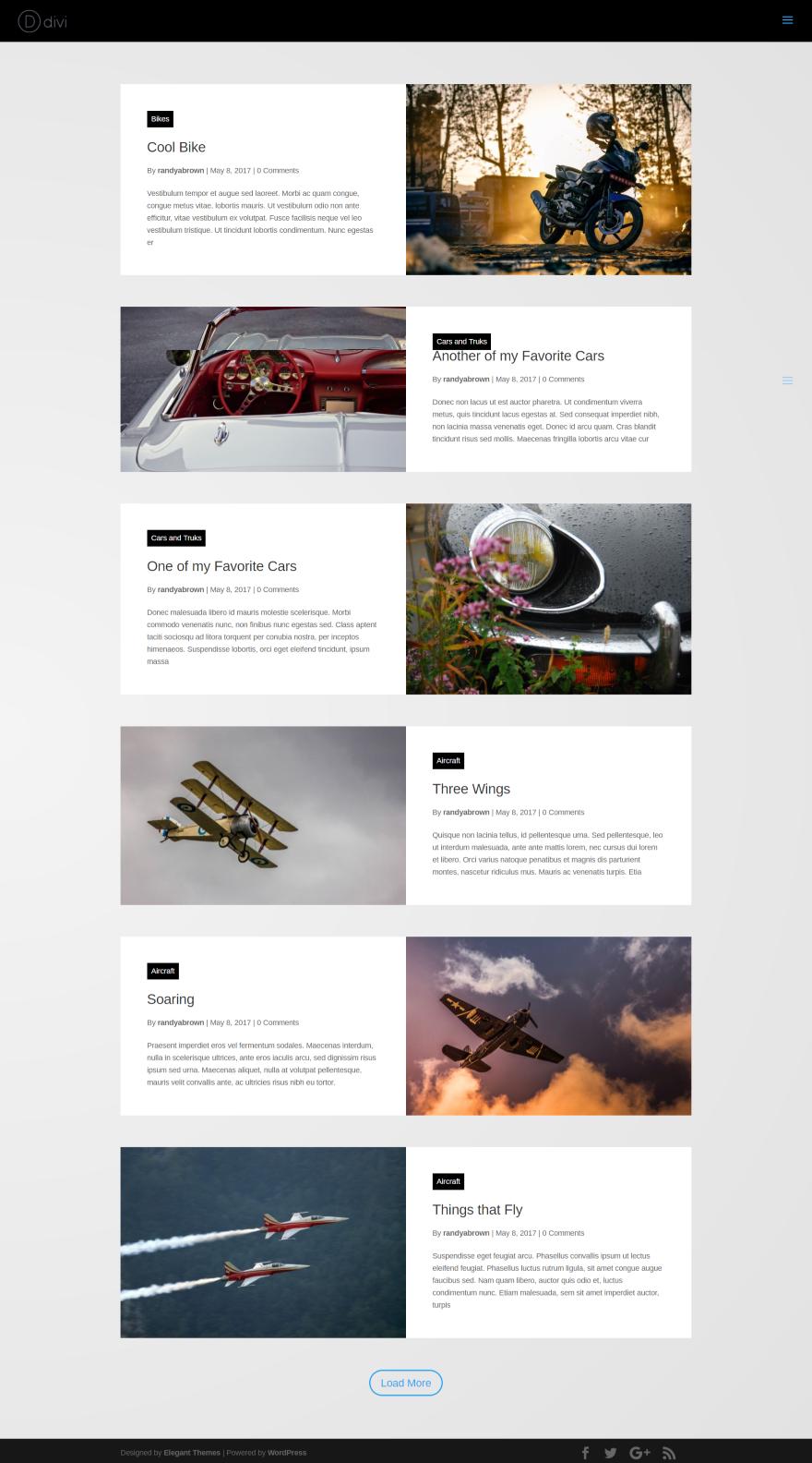 Divi Plugin Highlight – Divi Blog Extras | Divi Websites | Grid