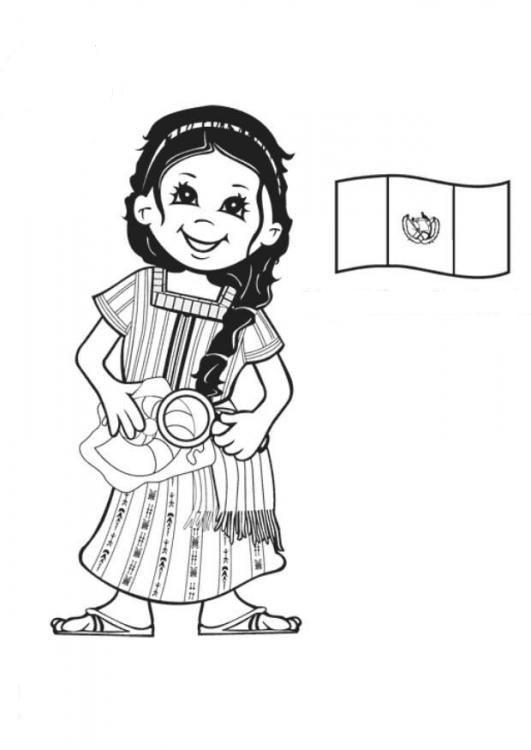 Dibujos para colorear trajes típicos del mundo - Imagui | México ...