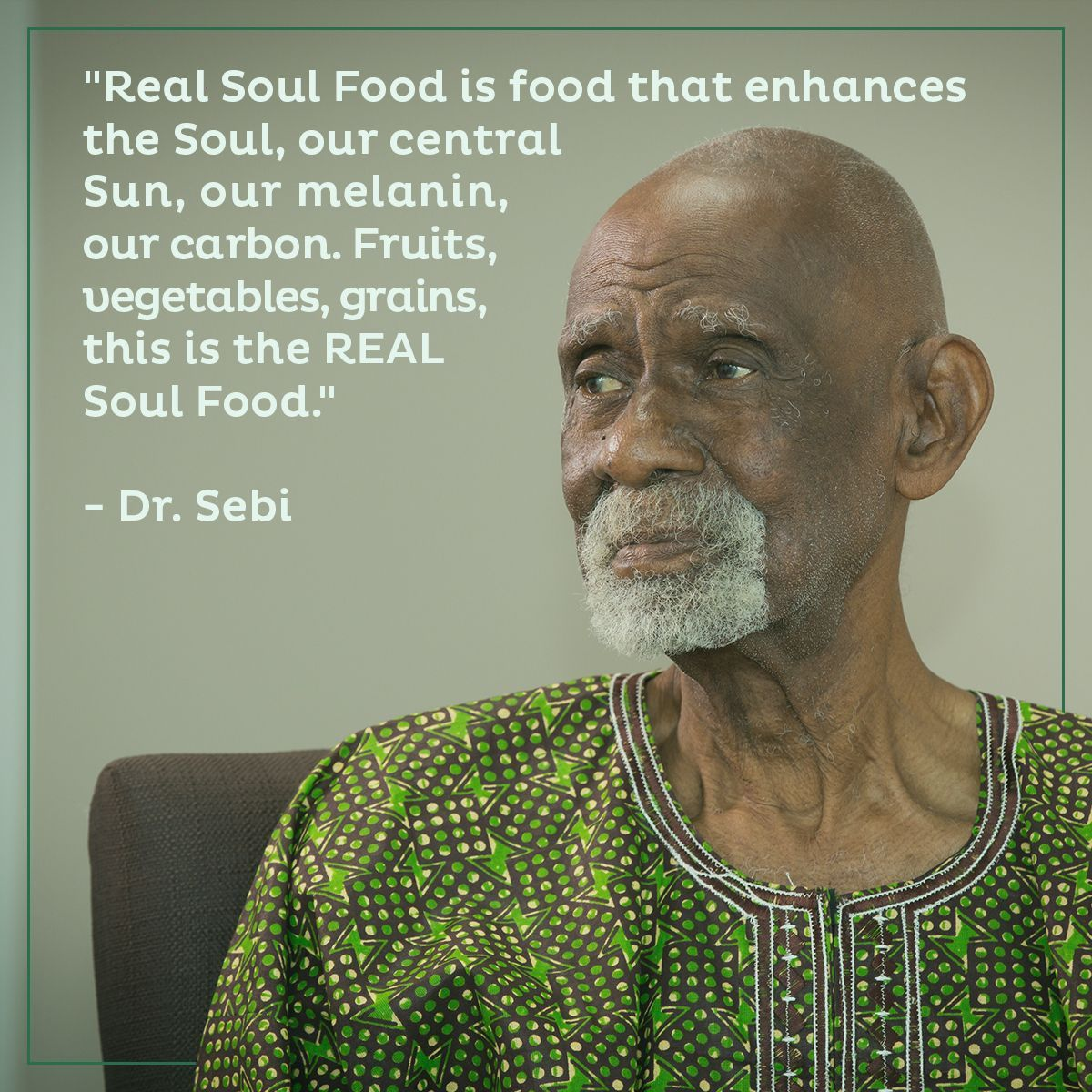 Ditch the processed crap and stick to Dr  Sebi's Nutritional