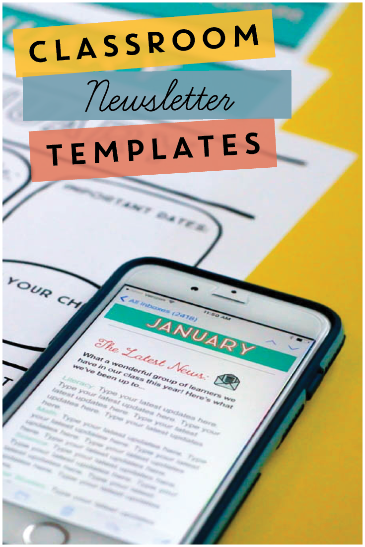 Classroom Newsletters Through The Year Editable Templates