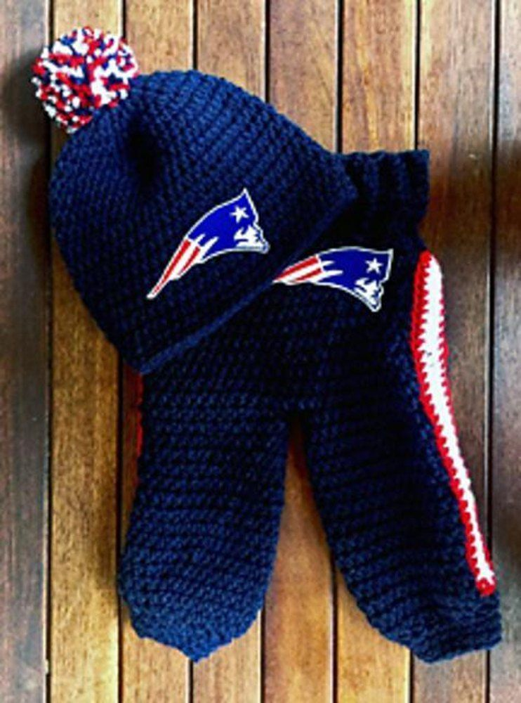 Baby Football Beanie Pant Set Brady Set Sports Themed Crochet