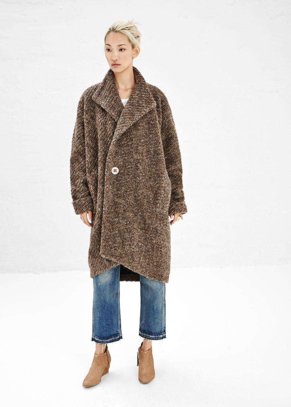 Boessert Schorn Oversized Coat in Brown Melange #totokaelo #boessertschorn