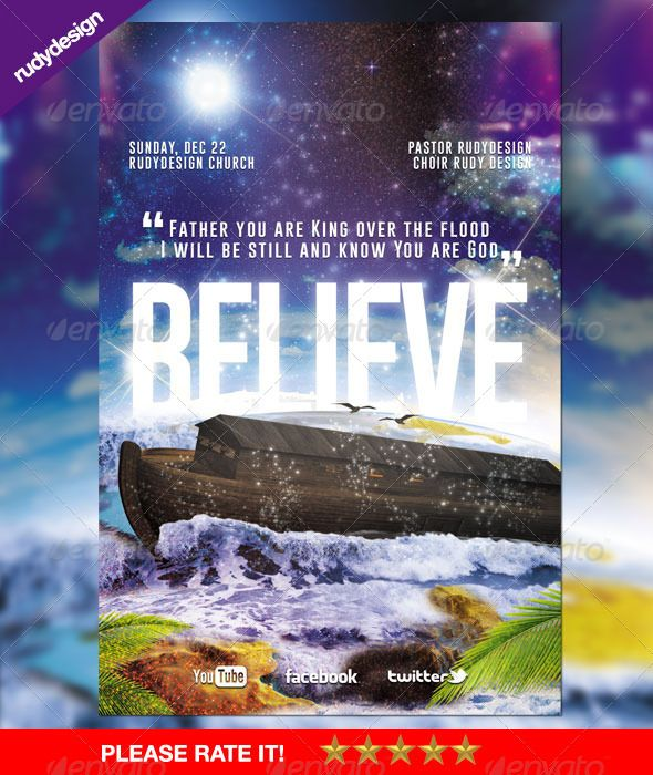 Believe - Church Flyer Design | Churches, Print templates and Font ...