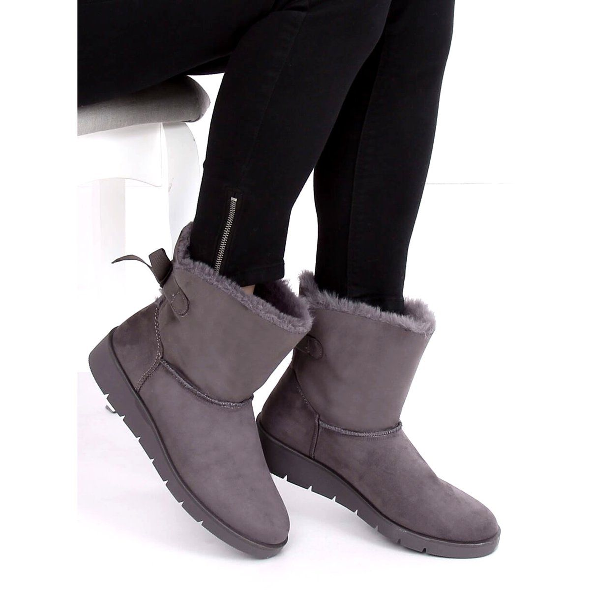 Sniegowce Damskie Szare A 3 Grey Boots Ugg Boots Uggs