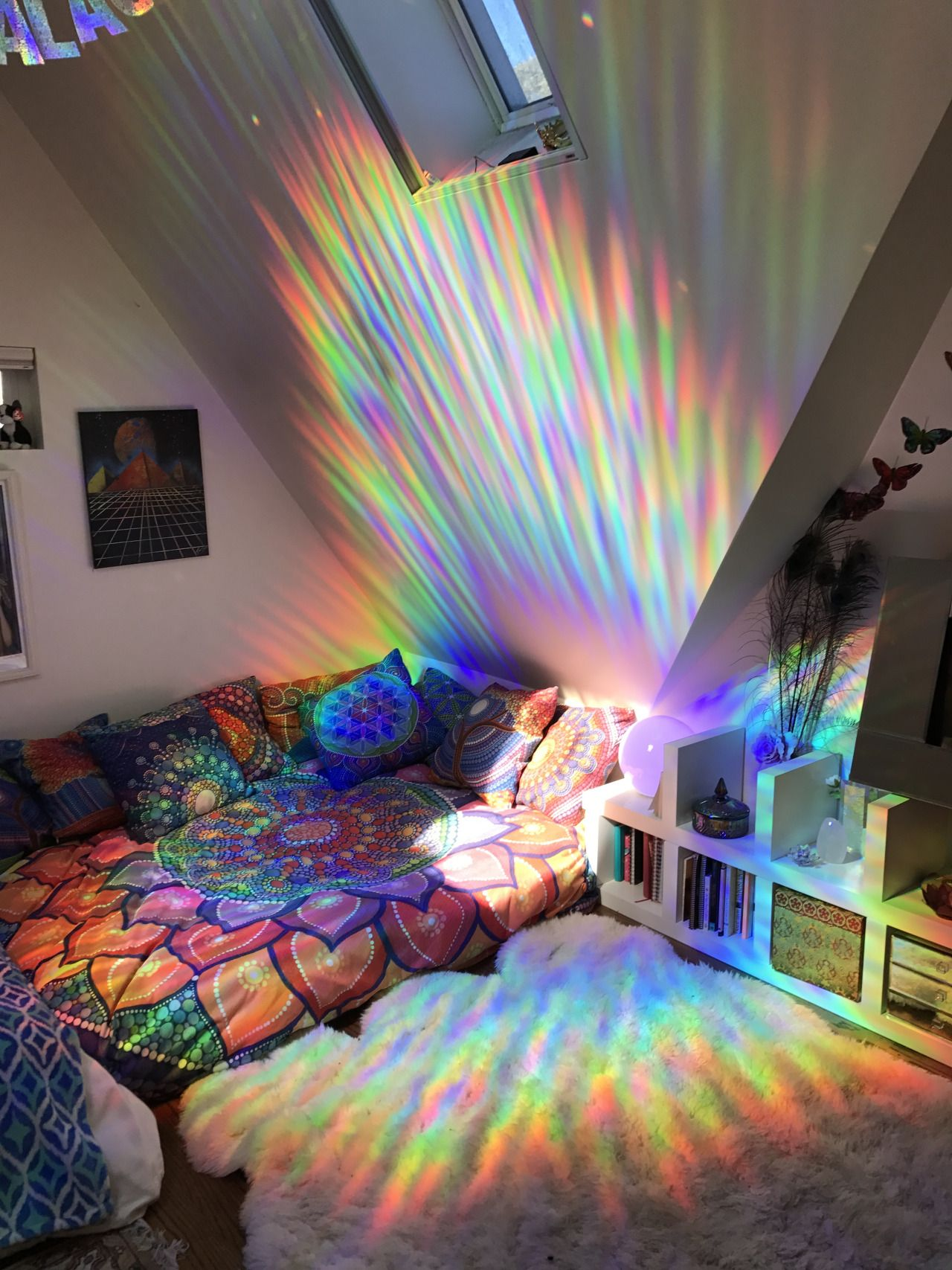 Holographic room decor