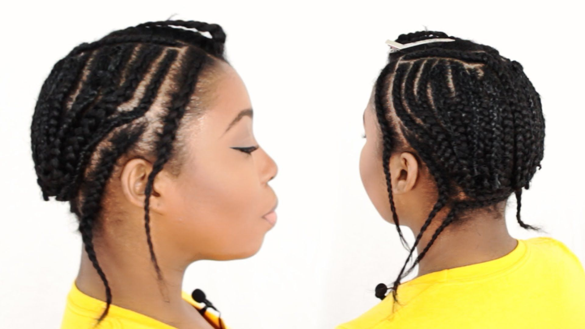 Sew In Braid Pattern With Leave Out Tutorial Part 2 Of 7 Braids With Weave Sew In Braids Braids With Extensions