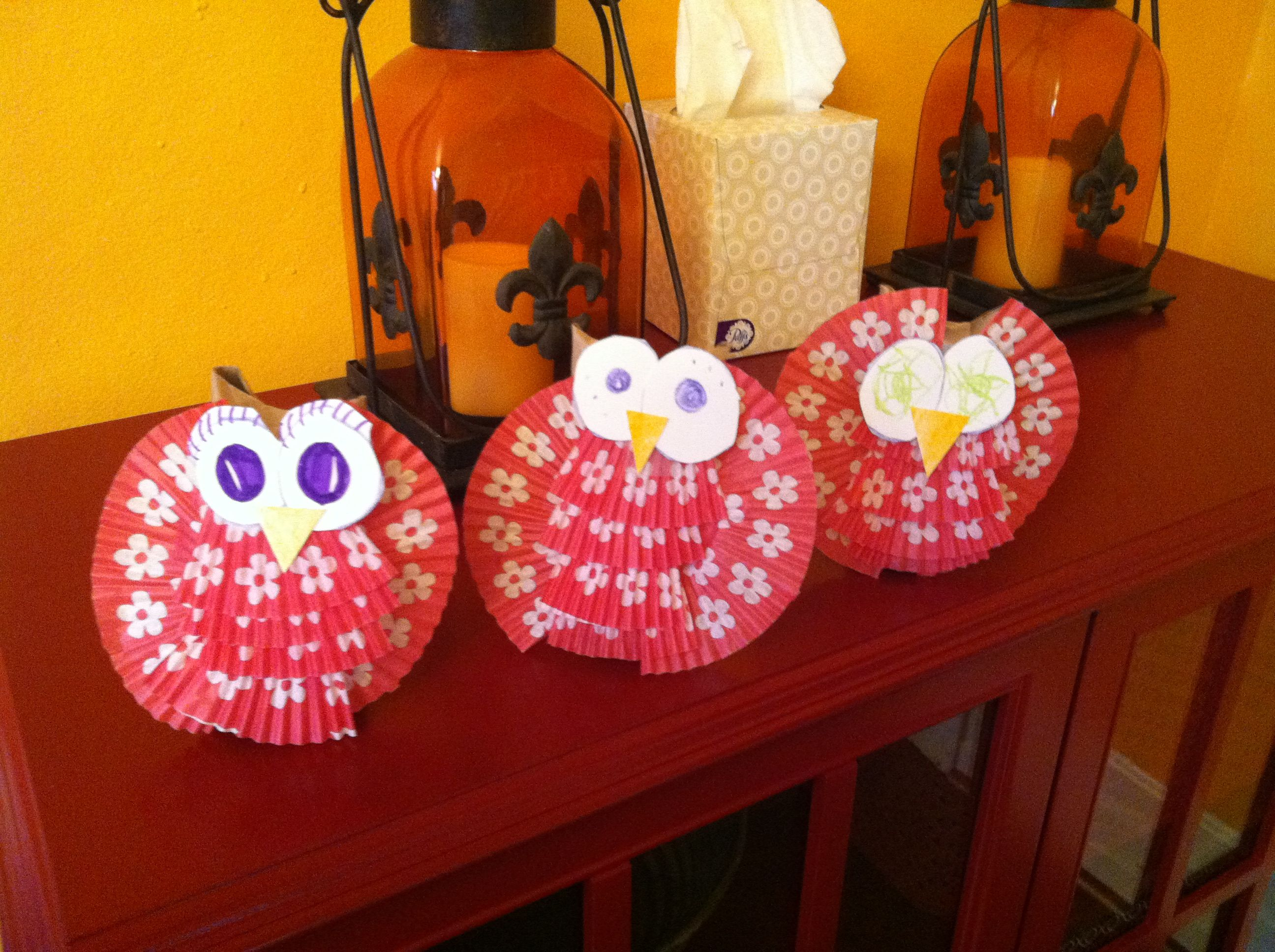 Halloween Owls Toilet paper roll cupcake holders and heavy stock